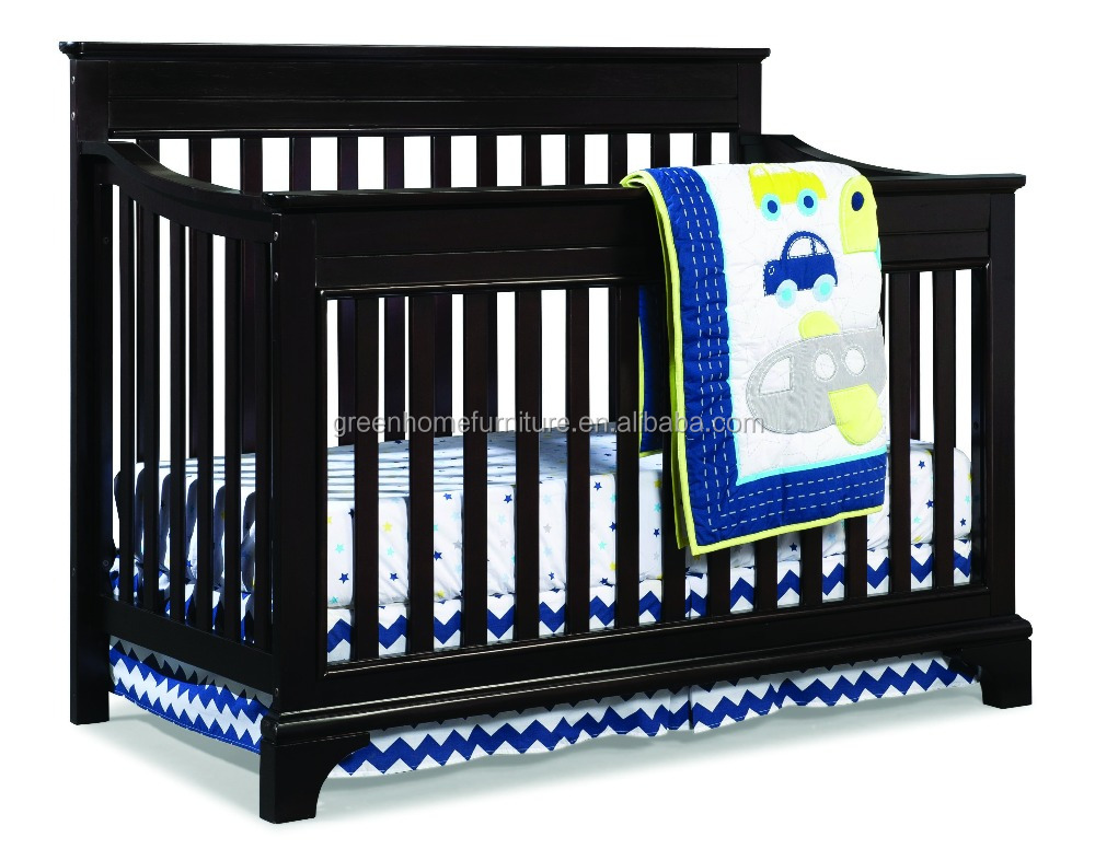 Solid wood adult baby crib