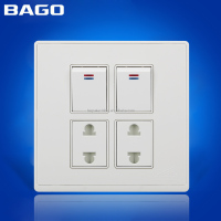 Pakistan style 16A 2+2 electric switch and socket