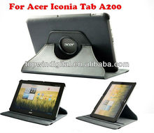 360 degree rotating leather case for Acer Iconia A200