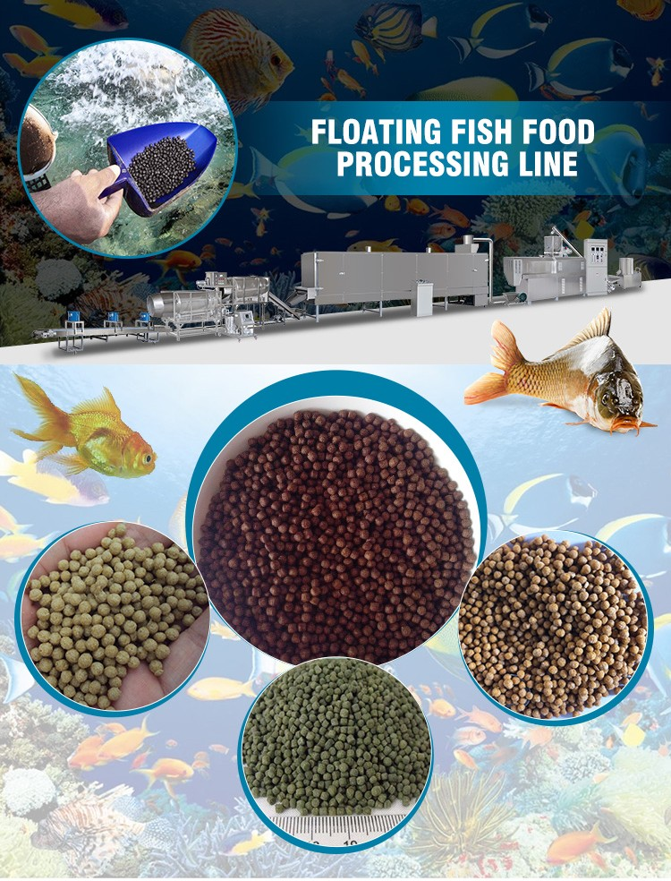Small high quality auto floating fish feed food making extruder pellet fish food machine cost price in india