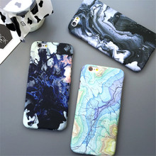 Hot Moon Space Map Marble Case Stone Capa Coque Slim Hard Plastic Phone Case Cover For iPhone 7 7Plus 5 5G 5S SE 6 6G 6S 6Plus