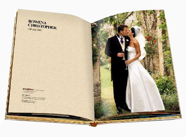 Wedding photo guest book digital printing or offset printing