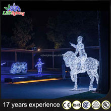 Chritmas decoration outdoor and indoor animal motif light reindeer with sleigh light/christmas light