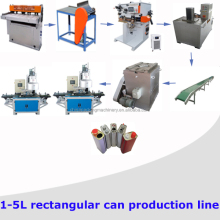 Automatic 1L-5L Engine Oil Tin Can Making Machine Production Line