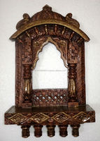 Rajasthani Painted Traditional Wooden Jharokha Carving Handicraft Photo Frame