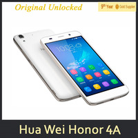 0510 Huawei Honor 4A Play Mobile Phone 4G LTE MSM8909 Quad Core 2G RAM 8G ROM Android5.1 5'' IPS 1280x720 8MP Cellphone