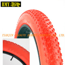 red green colored fat bicycle bike tires 26x4.0
