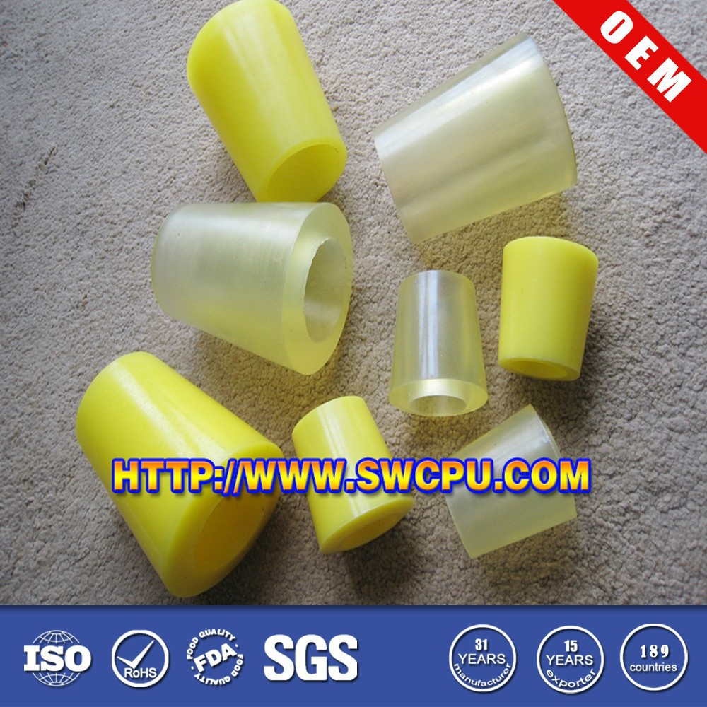 Custom molded colored insulated reducing polyurethane sleeve