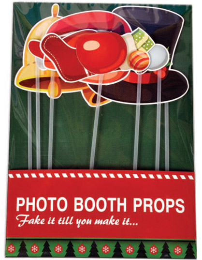 17pk Christmas party decorative photo booth props
