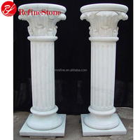 Outdoor Decoration White Marble Column White