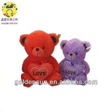 2013 red and purple valentine gifts bears with heart for