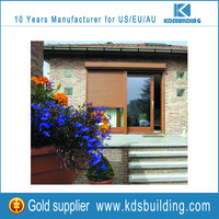 European wood color aluminum cheap window shutters