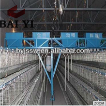 Gantry Type And Ladder Type Automatic Feeding For 4 Tier Chicken Layer Battery Cage For Tanzania Poultry Farm