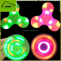 Fidget Spinner with Built in LED Bluetooth Speaker Hand Spinners Tri Finger Spinning Top Decompression Toys Finger Toys