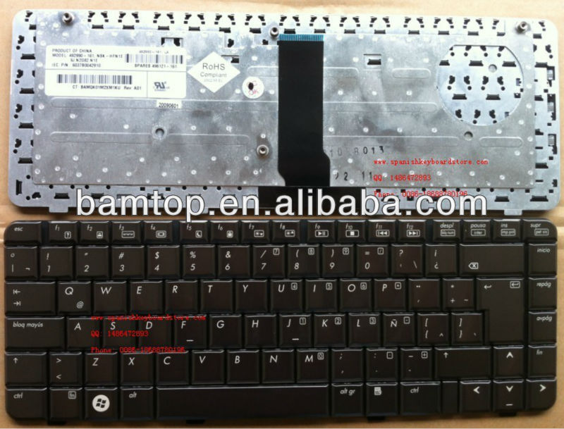 replacement Laptop keyboard for HP DV3500 Spanish TECLADO