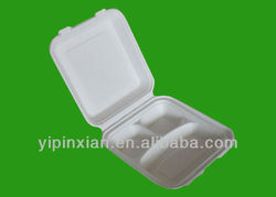SGS Disposable Biodegradable Eco-friendly 3 Compartment Pulp Food Container