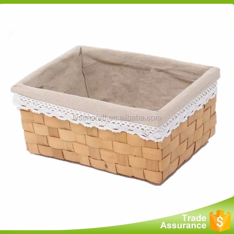 Guangxi factory direct-sell wooden storage basket for towel, book and sundries