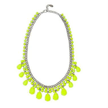 neon yellow pink fashion accessory necklace wholesale