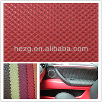 Red Leather Car Interior Wrap Nontoxic and Odorlessness