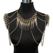 Punk Type Women Sexy Body Jewelry Multi Layers Nail Pendant Tassel Chain Necklaces Vintage Statement Accessories Collier