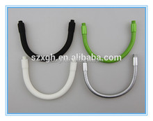top quality 3.6 mm flexible silicone rubber coated gooseneck metal tubex/bendable earphone gooseneck