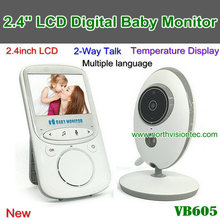 2.4 inch Color Video vb605 wireless baby monitor with 2 Way Talk Nigh Vision IR LED Temperature Monitoring