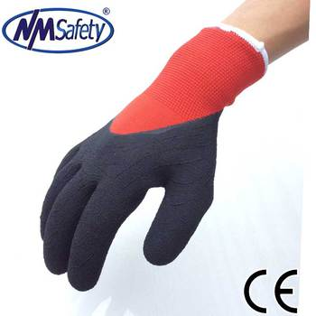 NMSAFETY Foam latex coated gloves construction glove winter use