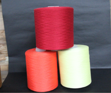 100% Polyester Spun Yarn Dyed high tenacity 60s/2 raw white color for dyeing
