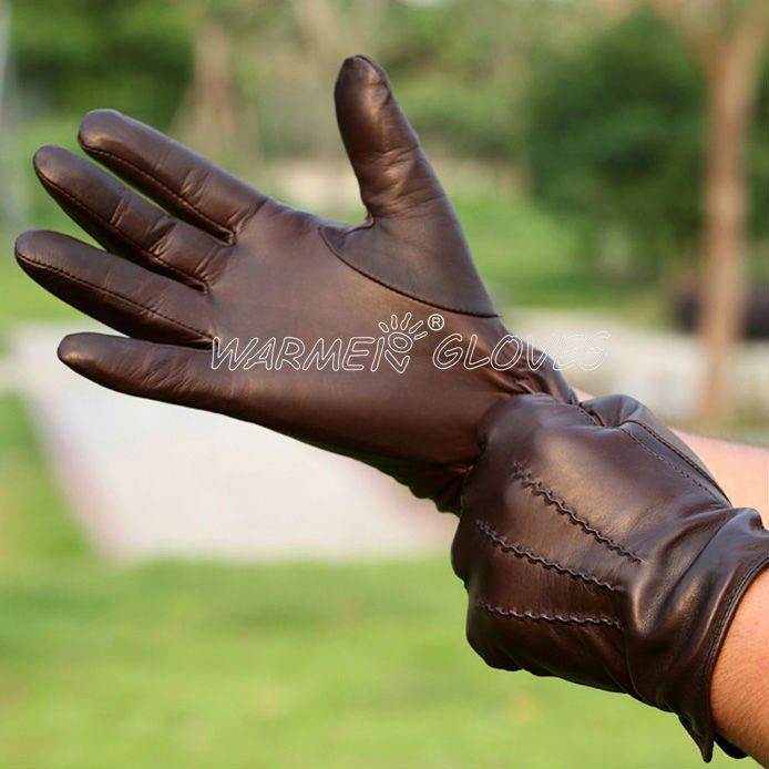 WARMEN Motorcycle Driving Winter Warm Kid mens Leather Gloves