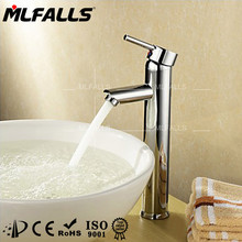Watermark fittings polished chrome single handle basin faucet waterfall brass mixer taps MLFALLS