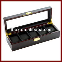 Handmade Wooden Personalized Watch Box With Clear Window