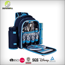 Picnic Backpack Bag for 4 With Cooler Compartment