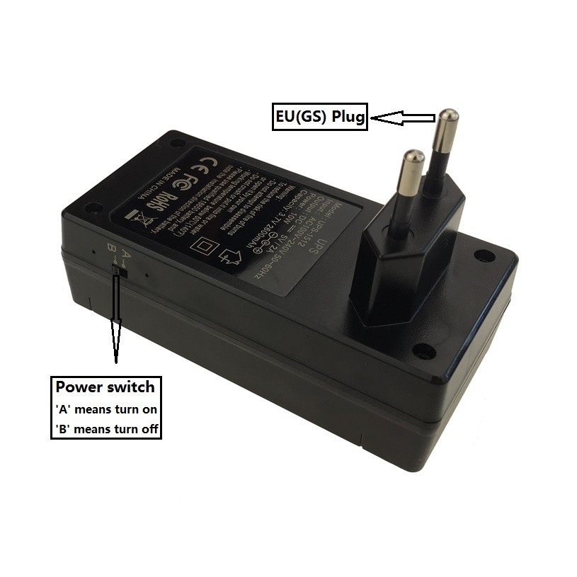 5V 2A AC adapter, switching adapter, AC power adapter with UPS function