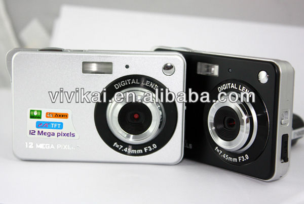 2013 Sales Promotion Slim Camera Digital dc with 12mega pixels,2.7inch TFT LCD display