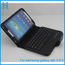 "8"" tablet case keyboard leather cover for galaxy tab 3"