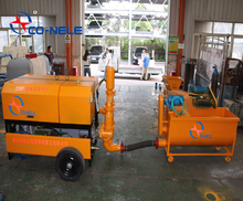 Cellular light weight concrete foam generator mixer with pump