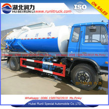 10000Liters septic pump truck with Water Cycle Vacuum Pump vacuum sewage suction truck for Africa customer