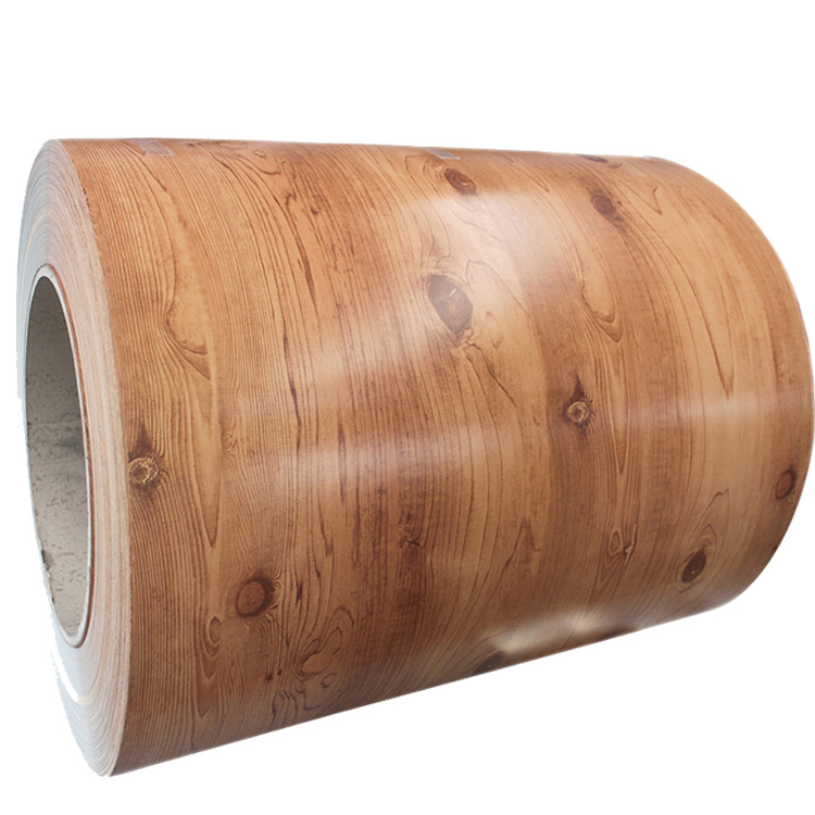 Wood grain color coated painted PPGI galvanized steel in coil