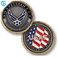 Zinc Alloy Air force Challenge Coin