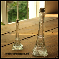 50ml 200ml 350ml Hot Sales Eiffel Tower Shape Glass Aroma Diffuser Bottle wholesale