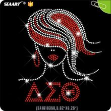 Delta Sigma Theta Iron On Rhinestone Heat Transfer Designs For T Shirt Wholesale In China