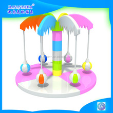 High quality coconut palm electric soft play amusement equipment for children