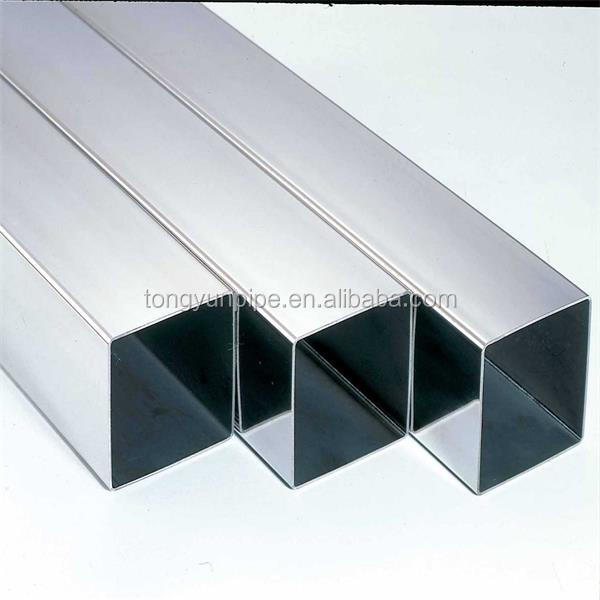 Hot selling square tube 10 x 20 galvanized astm a53 galvanized carbon steel square tube building materials