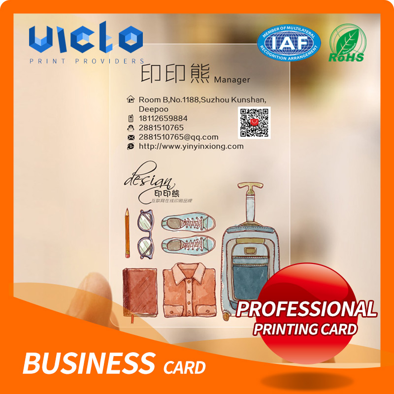 Hot selling plastic rfid gold hot stamping business card With Factory Wholesale Price