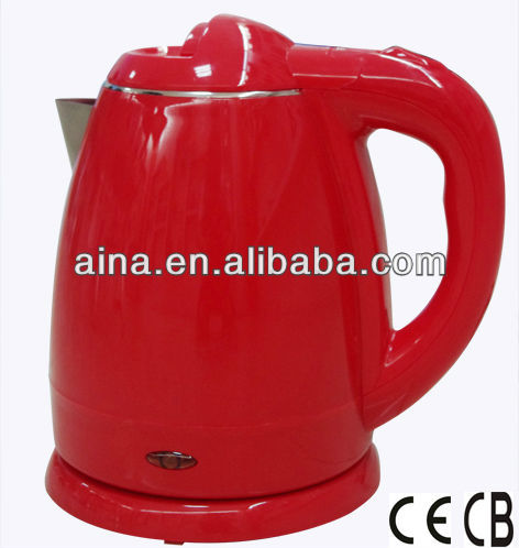 1.2L plastic cover stainless steel red kettle AN-121A