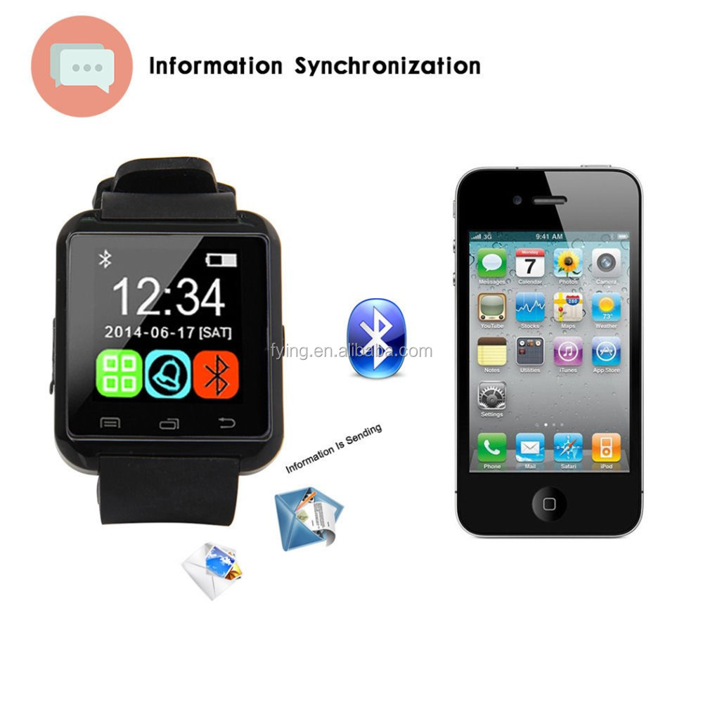 cheapest bluetooth mobile watch phones u8 China supplier smartwacth