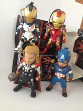 Hot sales HQ 6'' 5pc a set Marvel /the avenger Marvel the avenger toys plastic action figures with light & weapon