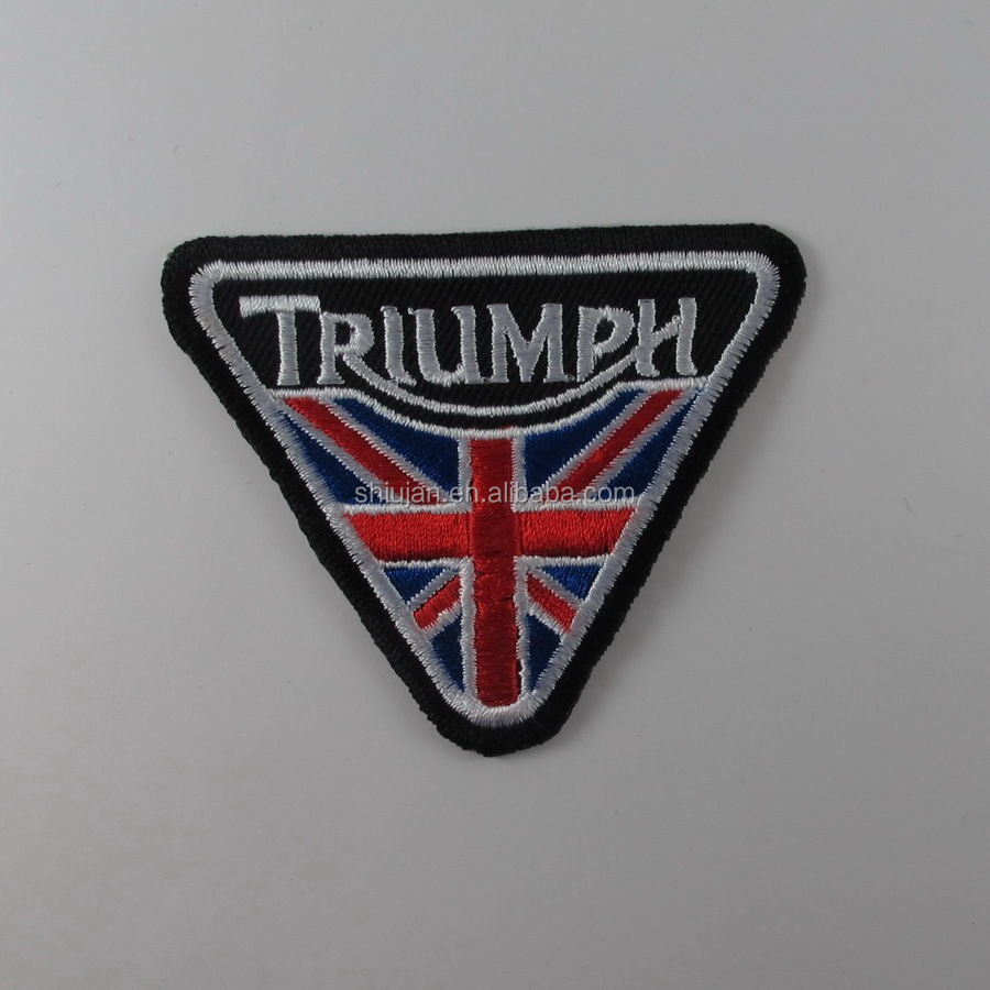 TRIUMPH EMBROIDERED SEW IRON ON PATCH BIKER MOTOCYCLE T-SHIRT JACKET JEAN CAP