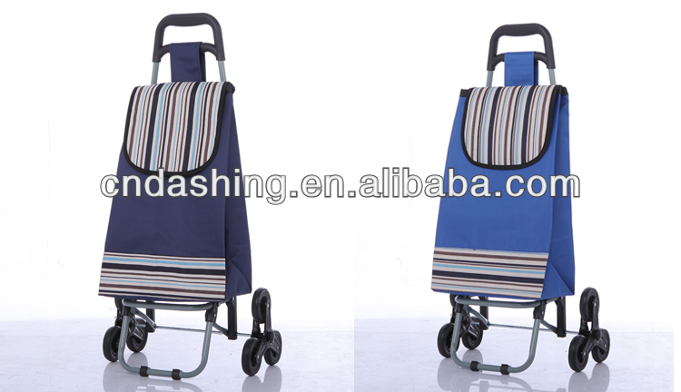 Foldable climb stairs folding shopping cart
