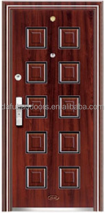 Lowest price iron outside door steel main doors desin(DFH16-104)